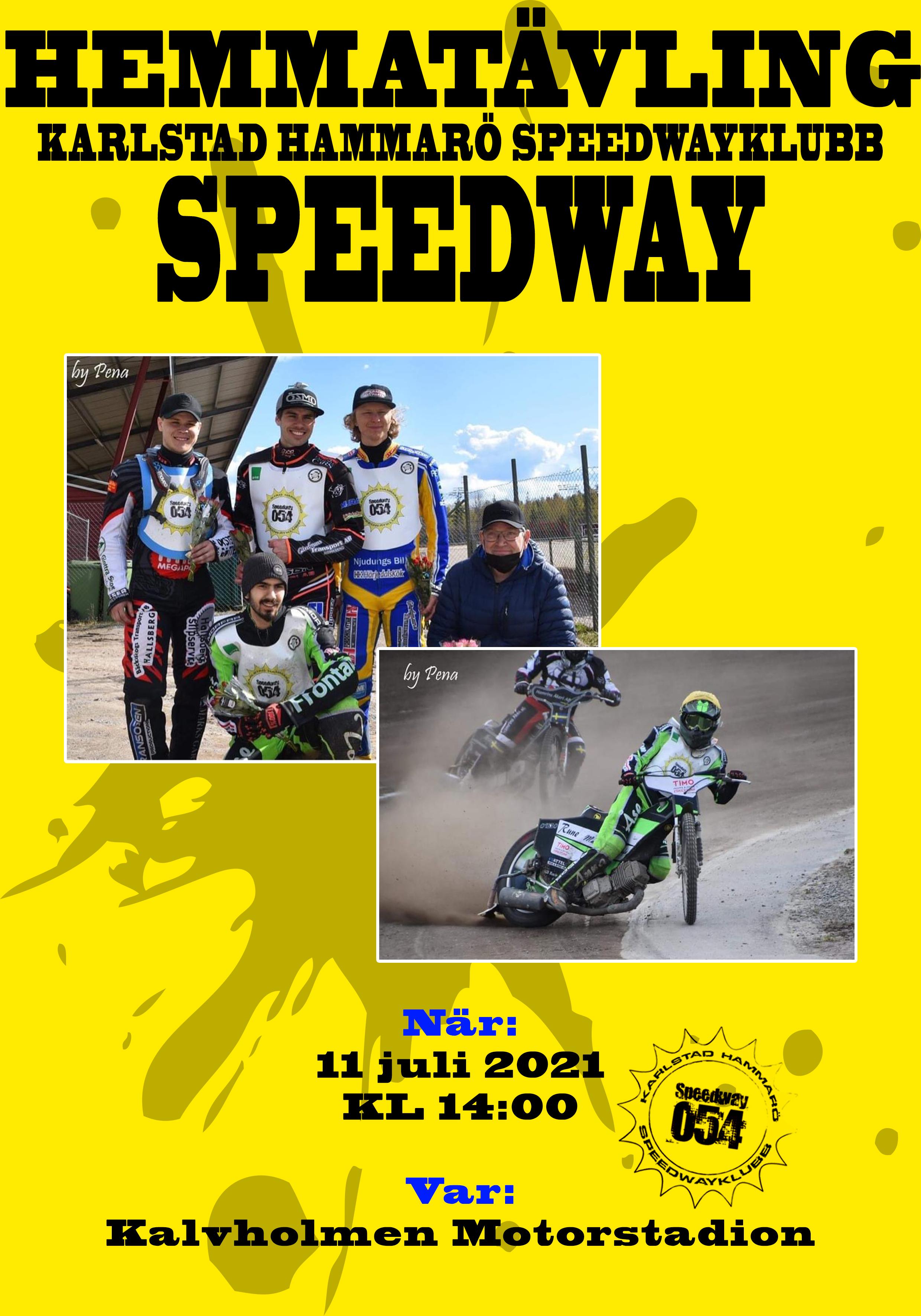 affisch Karlstad Hammaro speedway kopiera